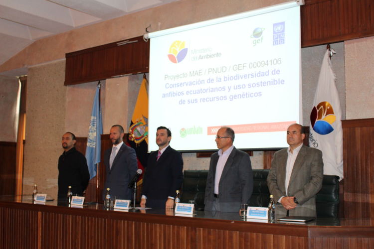 Proyecto Anfibio: Conservación de la diversidad de anfibios ecuatorianos y uso sostenible de sus recursos genéticos