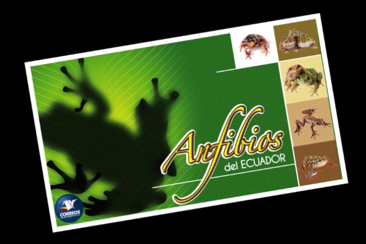 Sellos postales: Anfibios del Ecuador