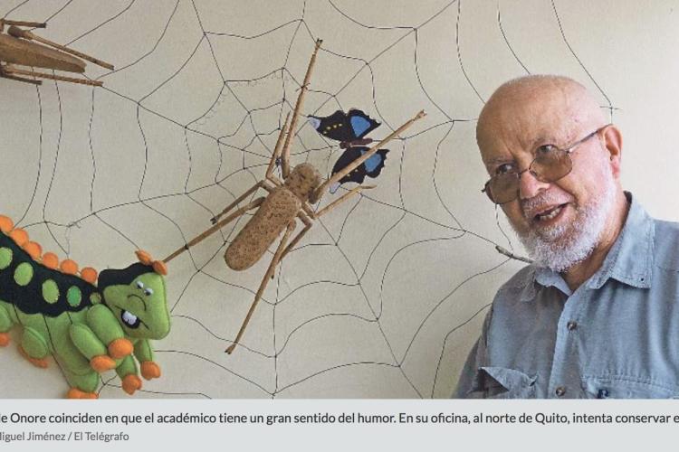 Giovanni Onore, el 'padre' adoptivo de los insectos